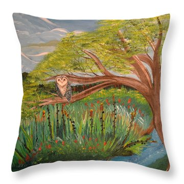Original Acrylic Artwork By Mimi Stirn - Hoomasters Collection Hoomonet #413 Throw Pillow