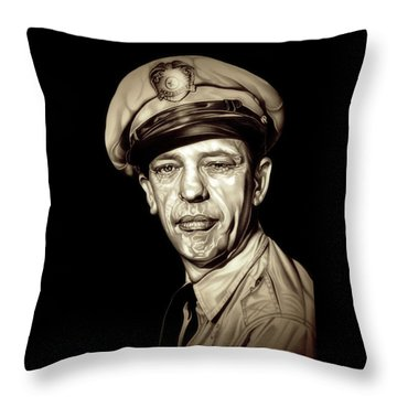 Original Barney Fife Throw Pillow by Fred Larucci