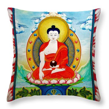 Shakyamuni Buddha Throw Pillow