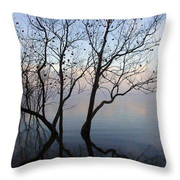 Throw Pillow featuring the photograph Original Dancing Tree by Paula Guttilla