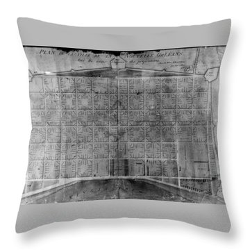 Original French Quarter Map Throw Pillow