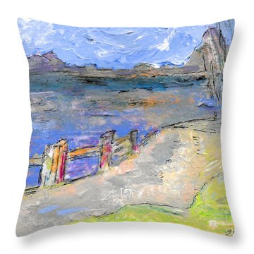 Asheville And The French Broad River Throw Pillow