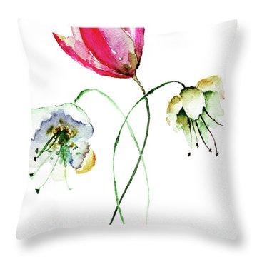 Original Summer Flowers Throw Pillow
