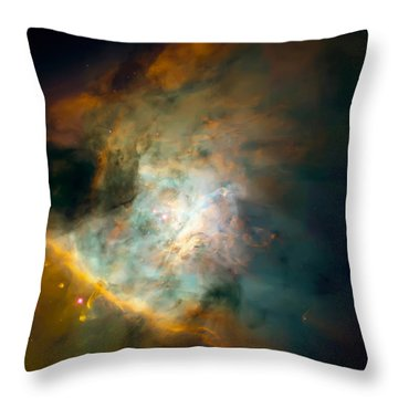 Orion Nebula Mosaic  Throw Pillow by Jennifer Rondinelli Reilly - Fine Art Photography
