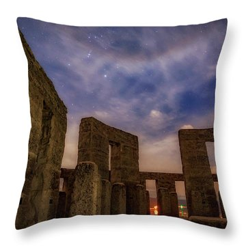 Throw Pillow featuring the photograph Orion Over Stonehenge Memorial by Cat Connor