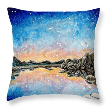 Orion Over Tahoe Winter Throw Pillow