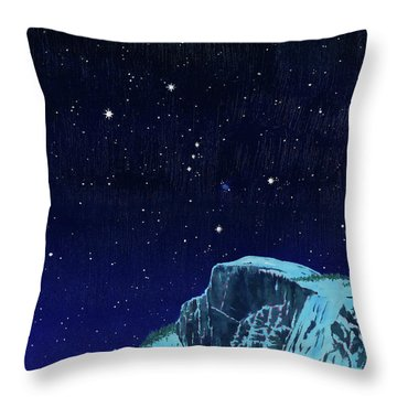 Orion Over Yosemite Throw Pillow