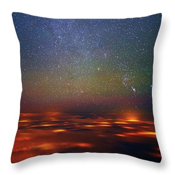 Orion Rising Throw Pillow