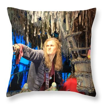 Orlando Bloom Throw Pillow by Qingrui Zhang