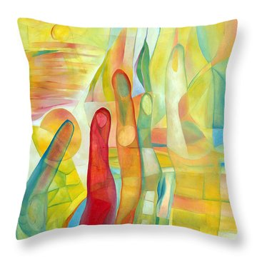 Throw Pillow featuring the painting Orlando by Linda Cull