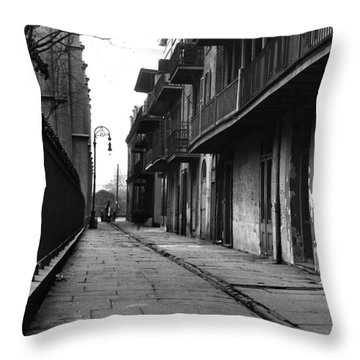 Orleans Alley Throw Pillow