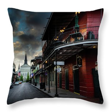Orleans Street To St Louis Cathedral Throw Pillow