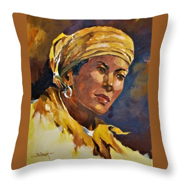 Orleans Woman II Throw Pillow