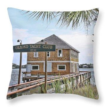 Ormond Yacht Club Throw Pillow