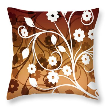 Throw Pillow featuring the digital art Ornamental 2 Warm by Angelina Vick