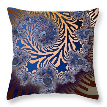 Throw Pillow featuring the digital art Ornamental by Karin Kuhlmann