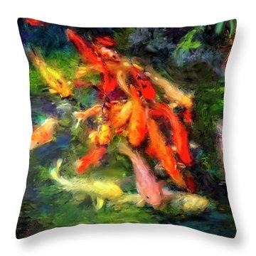 Ornamental Koi Throw Pillow