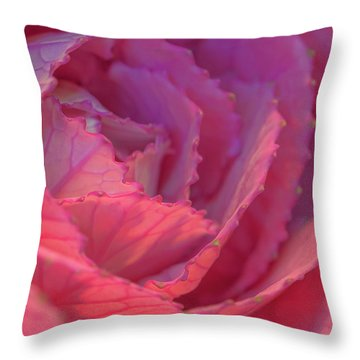 Ornamental Pink Throw Pillow by Roy McPeak