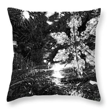 Ornamental Snowflake Throw Pillow