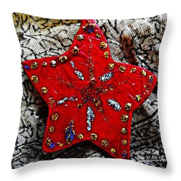Ornaments 15 Throw Pillow by Sarah Loft