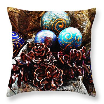 Ornaments 6 Throw Pillow by Sarah Loft
