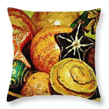 Ornaments Throw Pillow by Sarah Loft
