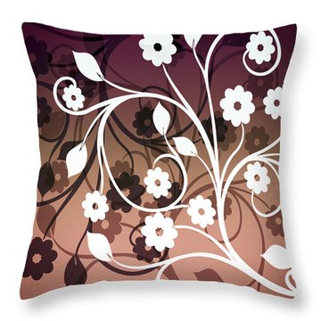 Throw Pillow featuring the digital art Ornametal 2 Purple by Angelina Vick