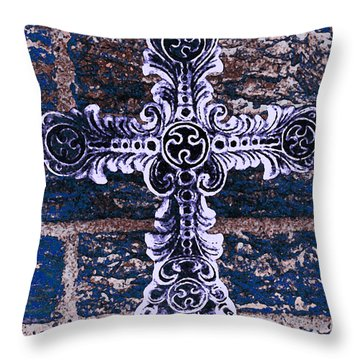 Ornate Cross 2 Throw Pillow