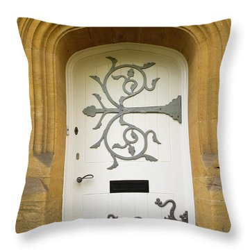 Ornate Door 1 Throw Pillow by Douglas Barnett