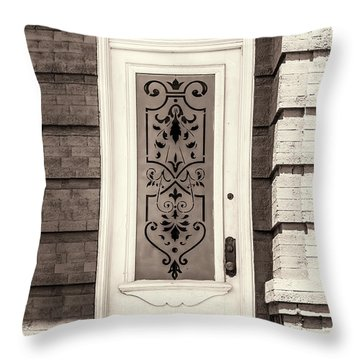 Ornate Glass Panel Throw Pillow