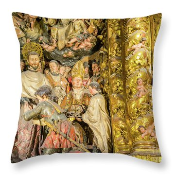Ornate Gold Guilded Altar Throw Pillow