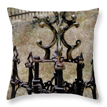 Ornate Iron Works Virginia City Nv Throw Pillow by LeeAnn McLaneGoetz McLaneGoetzStudioLLCcom