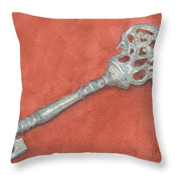Ornate Mansion Key Throw Pillow by Ken Powers