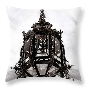 Ornate Wrought-iron Entrance Lantern Habsburg Vienna Throw Pillow