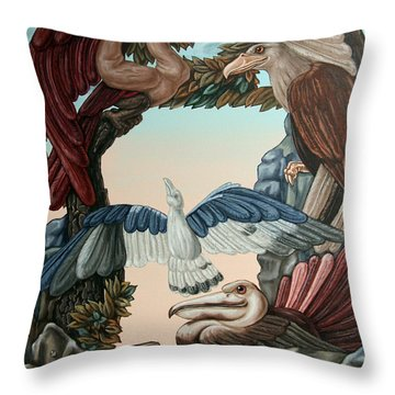 Ornithological Symphony By Ludwig Van Beethove Throw Pillow