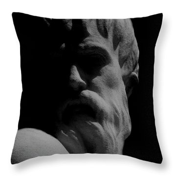 Orpheus Looks Back Throw Pillow by RC DeWinter