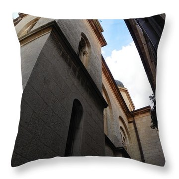 Orthodox Church Tower Throw Pillow
