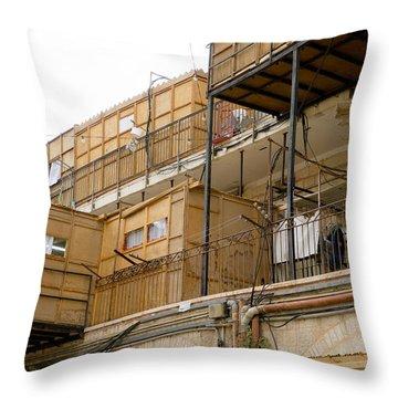 Orthodox Sukkahs In Jerusalem Throw Pillow