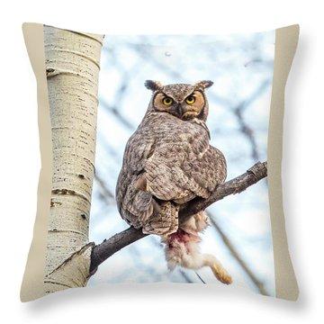 Orton Perch  Throw Pillow