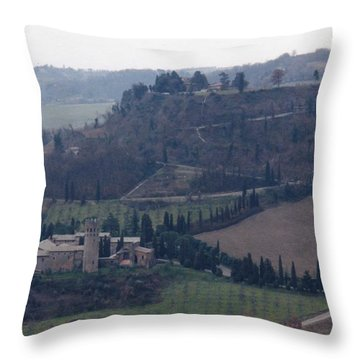 Orveito Italy Throw Pillow by Marna Edwards Flavell