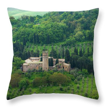 Orvieto Castle Throw Pillow