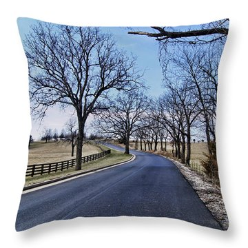 Throw Pillow featuring the photograph Osage County Road by Cricket Hackmann