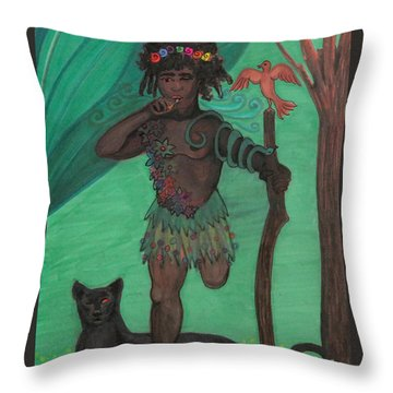 Osain Throw Pillow