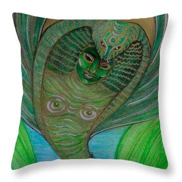 Wadjet Osain Throw Pillow