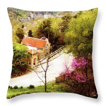 Osark Mountain Easter Throw Pillow