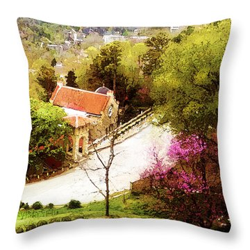 Osark Mountain Easter Throw Pillow