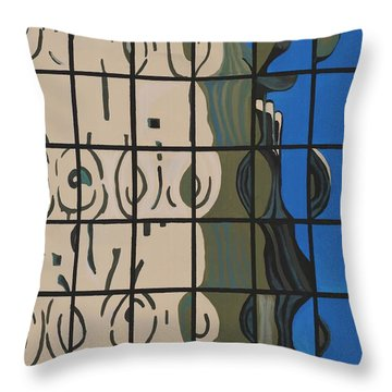 Osborn Reflections Throw Pillow by Alika Kumar
