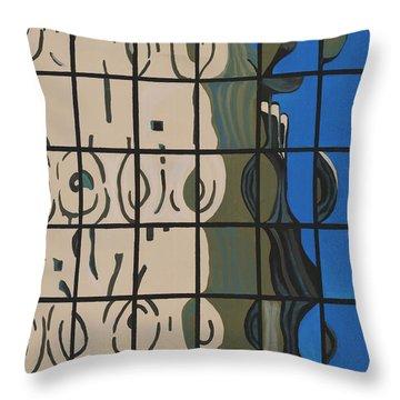 Osborn Reflections Throw Pillow by Alika Kumar