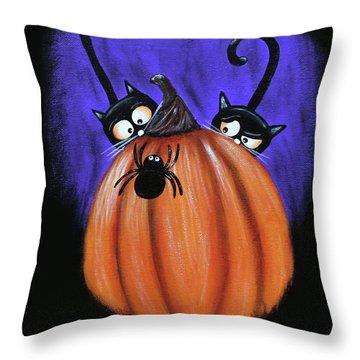 Oscar And Matilda - A Spider Oh Heck No Throw Pillow