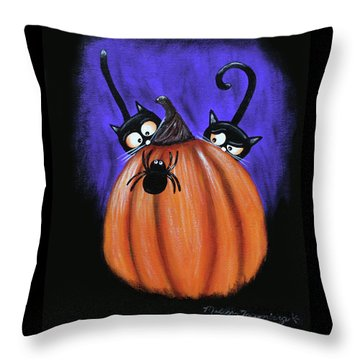 Oscar And Matilda - A Spider Oh Heck No Throw Pillow